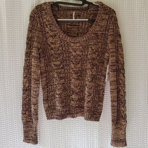 NWT Free People Scoop Neck Cable Knit Sweater